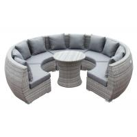 Quality Round Shape Curved Rattan Garden Outdoor Sofa Set wholesale