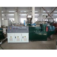 Quality WPC / PVC Plastic Pelletizing Machine , Conical Twin Screw Extruder wholesale