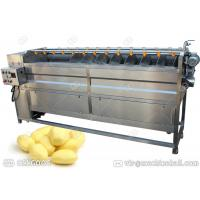 Quality Apple Potato Fruit And Vegetable Washing Machine , Commerical Fruit Peeler Machine wholesale