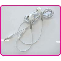 Quality Customized Earphone, White Cable Earphones for Iphone with Mic and Volume Control wholesale