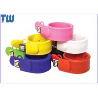 China Slap Silicone Bracelet USB 16GB Flash Drives Delicate Design for Gifts on sale