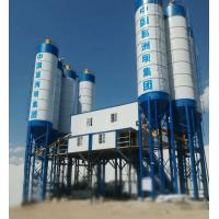 China Double Concrete Batching And Mixing Plant , 4 Grids Bin Ready Mix Cement Plant on sale
