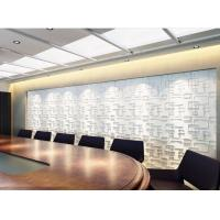 Cheap Plant Fiber Precast 3D Wallpapers for Home Decor , Living Room 3D Object Wall Decorative Panels for sale