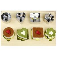 Cheap 304 Stainless Steel Flower Cake Mold , Lovely Pastry Ring Molds Customize Size for sale