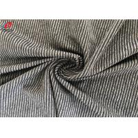 Quality Polyester Spandex Melange Striped Weft Knitted Fabric Environment Friendly wholesale