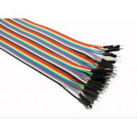 Quality Male To Male Jumper Wires Breadboard And Wire Kit Green Black Yellow White Blue wholesale