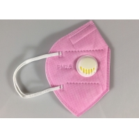 Quality Disposable GB2626-2006 KN95 Earloop Face Mask With Valve In Pink wholesale