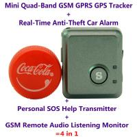 Quality V8S Mini GPS Tracker+Anti-Burglar Alarm+Personal SOS Help Alarm Transmitter+Spy GSM Audio Listening Transmitter Bug wholesale