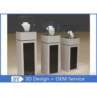 Quality Square Matte Black White Wooden Display Plinth With Small Cabinet wholesale