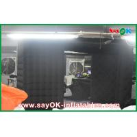 Quality Black Big Quadrate Strong Oxford Cloth Photobooth , Large Inflatable Photo Booth wholesale