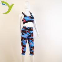 China Women's sports bra with cropped pants suits yiwu factory directly sales china supplier on sale