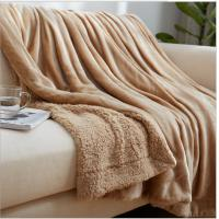 Quality Eco Friendly Velvet Plush Throw Blanket With Sherpa Backing Side 100% Polyester wholesale