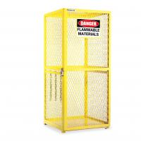 Quality Yellow Gas Cylinder Storage Cabinets , Collapsible Safety Cage For Gas Bottles wholesale