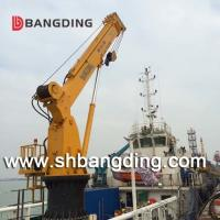 China hydraulic straight stiff telescopic boom deck marine crane for loading and unloading on sale