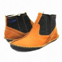 Quality Men's Fashionable Ankle Boots/Leisure Casual Shoes, Handmade, in Khaki wholesale