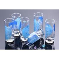 Quality 6PCS Printed Glass Cup for Juice/Cup wholesale
