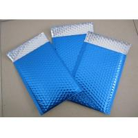 Quality Customized Printing Metallic Bubble Mailing Envelopes Blue Color For Shipping wholesale
