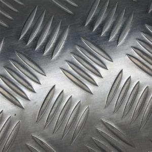 Quality 1060 Five Bars Pattern Aluminium Checker Plate , Aluminium Chequered Sheet Baseboard wholesale