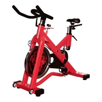Quality Dip Handle Fitness Commercial Spin Bikes 20kg Fly Wheel Red Color 3.5mm Thick Tube wholesale