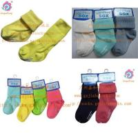 China Baby socks knitting socks factory rib cotton Cute baby socks non-slip on sale