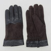 China Touch Screen Mens Black Leather Winter Gloves , Soft Plain Style Mens Fashion Gloves on sale