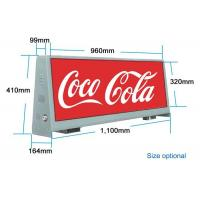 China Double Sided Outdoor Led Billboard 4000 / 1 Resolution Taxi Advertising Display on sale