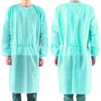 Quality Green Color Disposable Isolation Gown , Hospital Disposable Protective Gowns wholesale