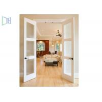 Quality Double Glazing Frosted Glass Aluminium Hinged Interior Swing Doors for Washroom wholesale