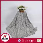 Quality New Design Leaf Printed Pattern Micro mink Blanket 100% Polyester solid Print Blanket wholesale