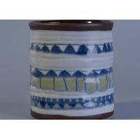 Quality Glossy Glazing Home Decor Ceramic Candlestick Holders Hand Painted Eco - Friendly wholesale