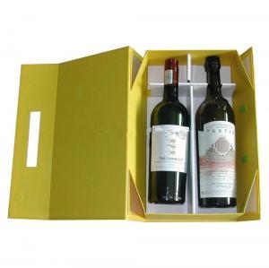 Quality 2015 new design top sale pop up 2 bottle wine packaging box,cardboard wine box wholesale