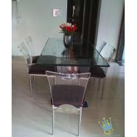 Quality acrylic breakfast bar and stools set wholesale