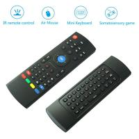 Quality 6 - Axis Somatosensory Wireless Qwerty Keyboard Air Mouse Remote Control For TV wholesale