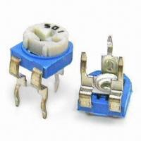 China Trimmer Potentiometers with 0.5kgf Push-pull Strength and 20 to 200gf.cm Rotational Torque on sale