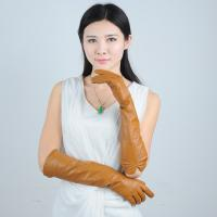 Quality women sheepskin Yellow long leather gloves wholesale