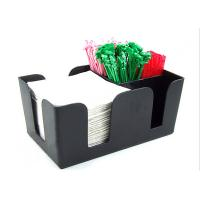 Quality Solid Black Acrylic Tissue Box , Acrylic Dining Table Display Holder wholesale