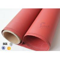 """Quality Red Silicone Coated High Silica Fabric 800℃ 0.7mm 37"""" Fire Blanket Cloth wholesale"""