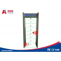 China Touch Screen Door Frame Metal Detector , Pass Through Metal Detector 8 Detecting Zone on sale