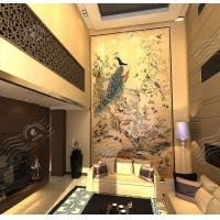 Quality Art Decorative Painting, Traditional Chinese Painting, Wood TV Wall Art Decorative Painting wholesale