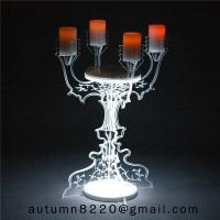 Quality CH (22) home floor standing acrylic candle holders wholesale