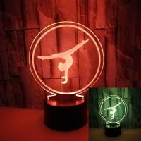 Quality hot-selling ballet 3D lights Colorful touch-visual stereo lights 3D illusion three-dimensional gift night light wholesale