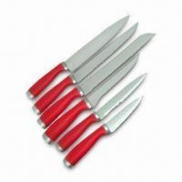 Quality 6pc Knife Set with Chef, Carving, Bonning, Utility and Paring Knife, Made of Stainless Steel wholesale