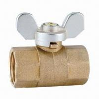China Brass Ball Valve with Butterfly Handle on sale