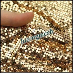 China Fashion Design Decorative Metal Sequin Fabric,Golden Drapery on sale