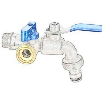 China PN16 Outdoor Tap Brass Bibcock Valve With Lock Source on sale