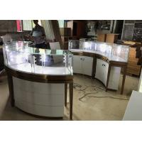 Cheap High End Stainless Steel Gold Jewellery Showroom Display With Led Light for sale
