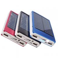 Quality Multi-function 10400mAh Metal Solar Panel Power Bank For iPhone / Samsung / Xiaomi wholesale