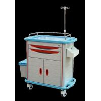 China Ambulance Stainless Steel Medical Trolley , Stainless Steel Trolley With Drawers on sale