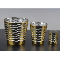 Quality Short Jar Candle Holders For Tea Lights , Glass Tea Candle Holders wholesale