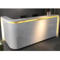 Quality Flat Surface MDF Painting Retail Store Cash Register Display Counter With Lighting wholesale